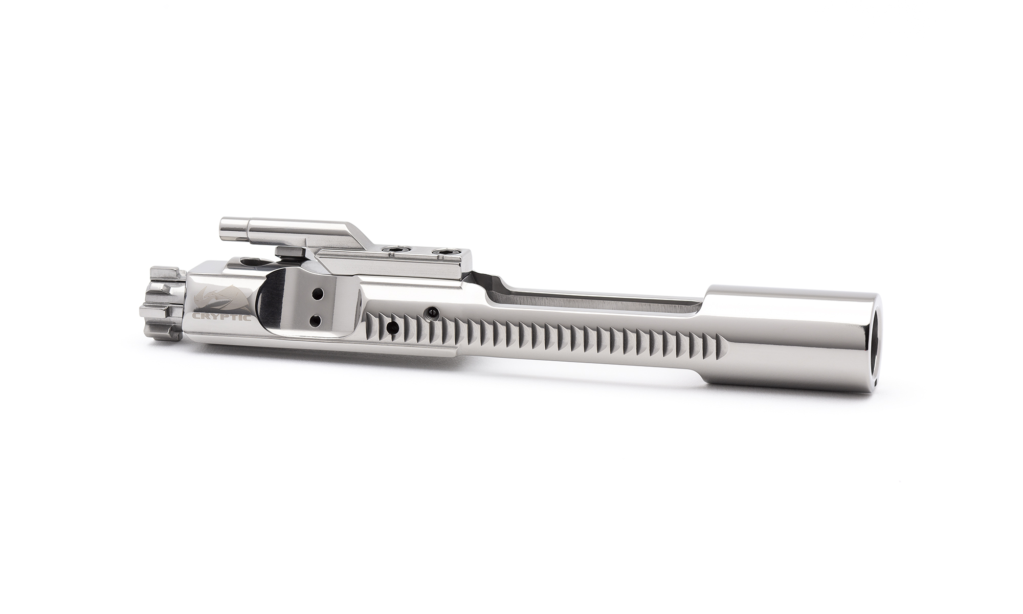 AR15 Steel Bolt Carrier Group - Left Hand - Mystic Silver