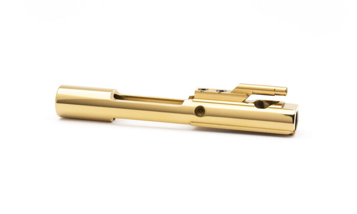 AR15 Steel Bolt Carrier w/ Key - Left Hand - Mystic Gold